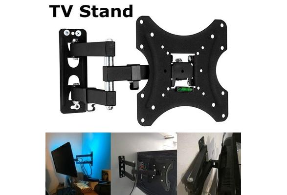 """26-55/"""" Tilt /& Swivel TV Wall Mount Bracke Rotatable TV Stand TMX200 Spirit Level"""