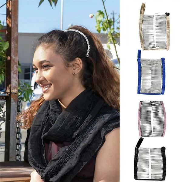 Vintage Banana Hair Clip Christmas Hair Accessory Stretchable Convenient Comb