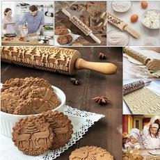 Baking, Christmas, Pins, Wooden
