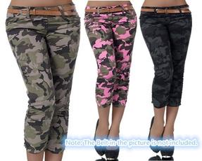 caprisforwomen, Plus Size, pencil, camouflagepant
