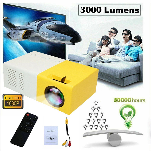 YG300 Mini Portable Multimedia LED LCD Projector Full HD 1080P Home Theater USB