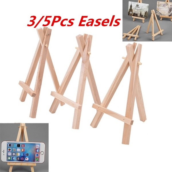 Mini Wooden Cafe Table Number Easel Wedding Place Name Card Holder Stand cb