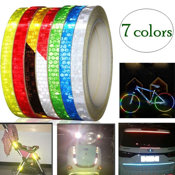 Bicycle Car Motorcycle Reflective Sticker Night Riding Safety Tape 8M Reflective