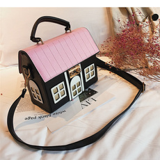 Shoulder Bags, body bag, house, colorstitchingpackage