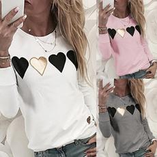 blouse, Heart, Plus Size, Shirt