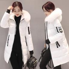 hooded, Winter, cottonpaddedjacket, Coat