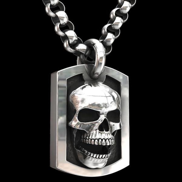 Goth, Stainless Steel, punknecklaceformen, mensnecklaceandpendant