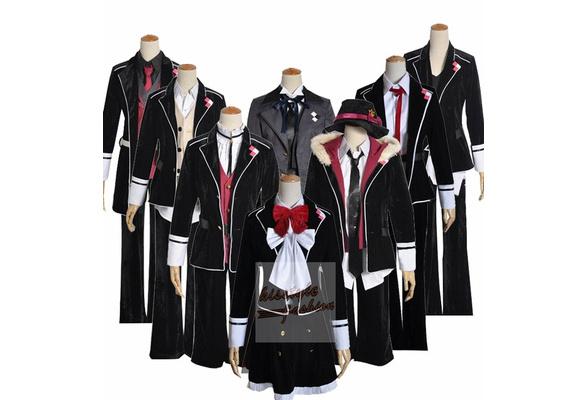 Diabolik Lovers Yui Komori Pink Suit Cosplay Costume