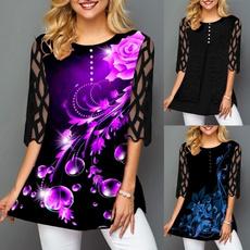 blouse, Autumn, Plus Size, Floral print