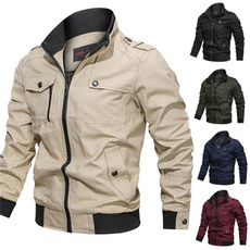 Stand Collar, Casual Jackets, men coat, Plus Size