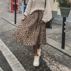 leopard print, Pleated, Leopard, leopard dress