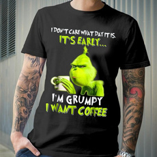Funny, Coffee, grinchtshirt, Cotton Shirt
