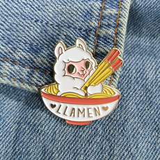 cute, alpacapin, llamaenamelpin, Animal