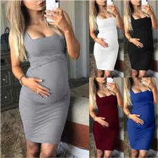 slim dress, pregnantwoman, Plus Size, Dress