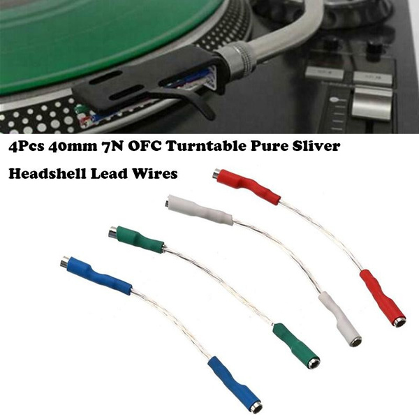 4 x Headshell Wires for Turntable Cartridge Tonearm  Installation