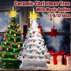 Decor, Ceramic, Christmas, Battery