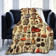 Fleece, antipilling, Beds, Mushroom