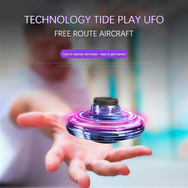 Hands Controlled Mini Drone Helicopter 360° Rotating Shinning LED Light Toys