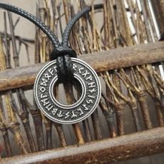 leatherropenecklace, Steel, punk necklace, Jewelry