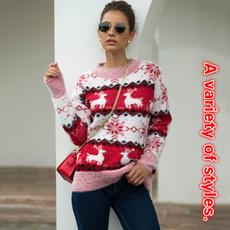 elk, Women Sweater, Christmas, knitted