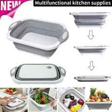 Kitchen & Dining, foldingdrainbasket, sinkbasket, Home & Living