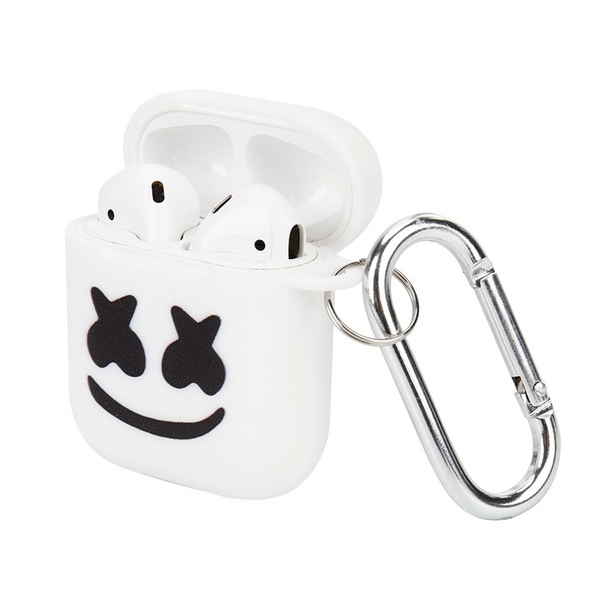 Marshmello Pattern Airpods 1 2 Case Tpu Shockproof Airpods
