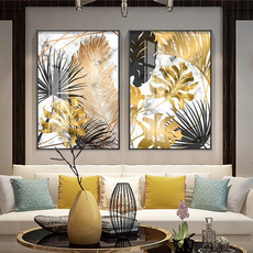 golden, art, Decoración de hogar, canvaspainting