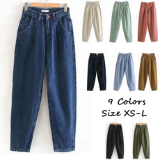 fashion women, trousers, pants, Mezclilla