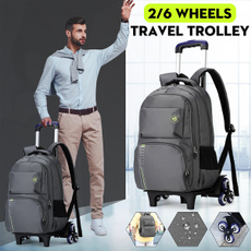 travel backpack, trolleybag, School, Men