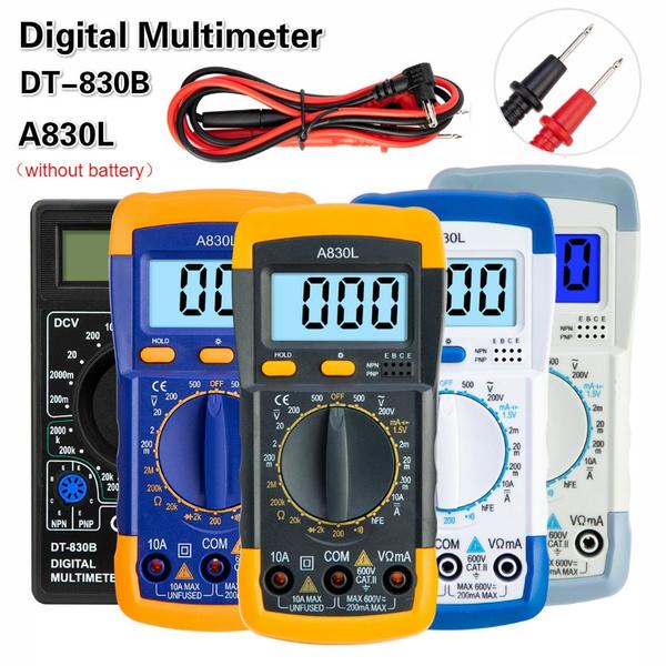 lcddigitalmultimeter, acdcvoltage, ohmmetertester, a830ldigitalmultimeter