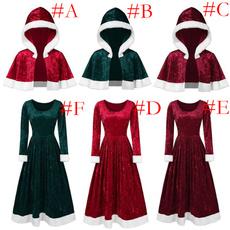 hooded, velvet, Christmas, Sleeve