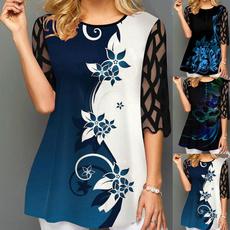 blouse, Plus Size, Floral print, Inverno