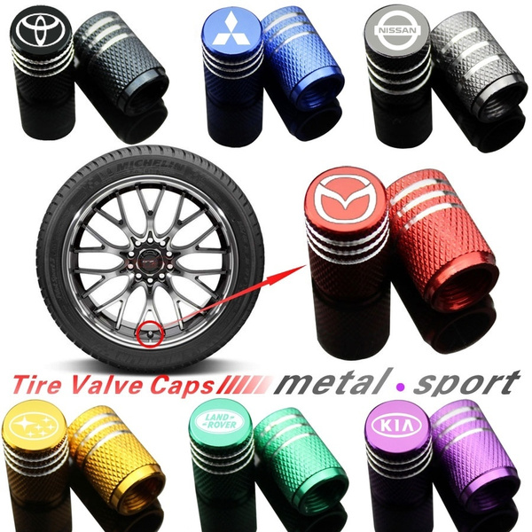 4 pcs Auto Car Wheel Tire Air Valve Caps Stem Cover for STI