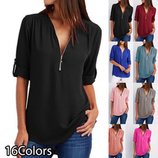Plus Size, Shirt, Sleeve, Long Sleeve