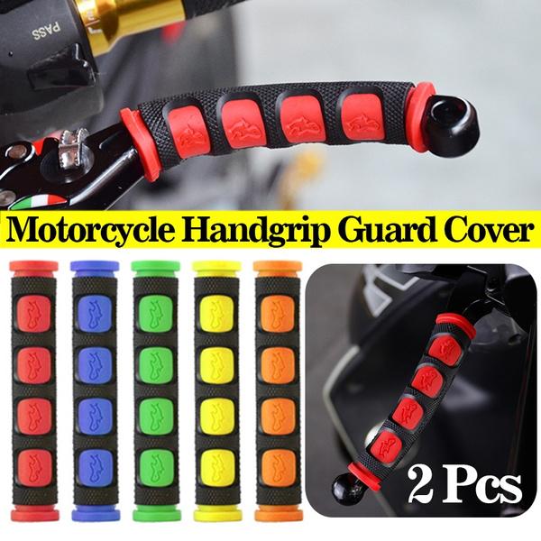 2x Motorcycle Handgrip Guard Motorbike Brake Clutch Lever Cover Handlebar Grips/&