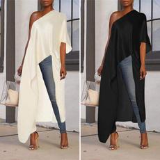 shirtsforwomen, Plus Size, asymmetricblouse, Shirt