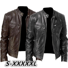 Stand Collar, bikerjacket, Plus Size, leather