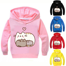 pusheenhoodie, hooded, Long Sleeve, Tops