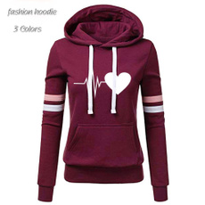 Casual Hoodie, Tops & Blouses, cottonsweater, Long Sleeve