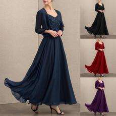 Plus Size, Lace, chiffon, Tunic dress