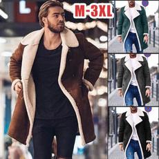 casual coat, lapel, Fleece, Overcoat