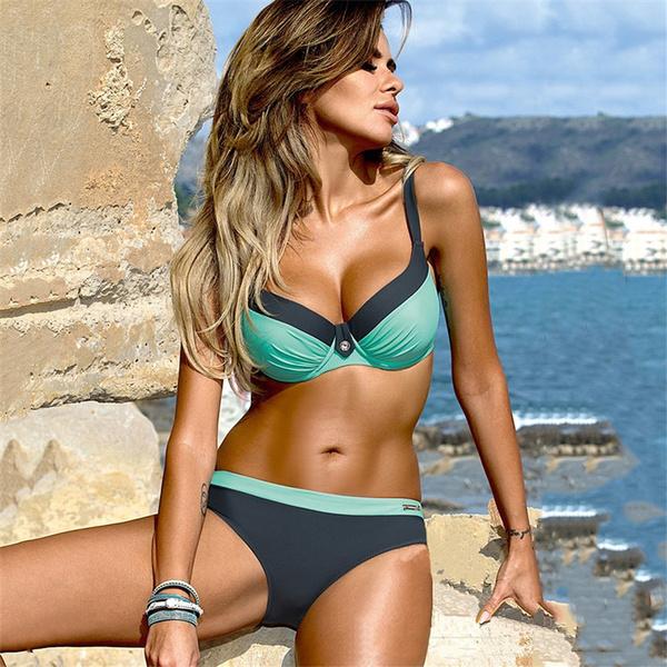 2020 New Women Sexy Brazilian Bikini Push up Tanga Swimsuit ...