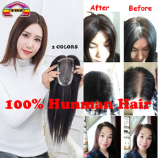silkbasetopper, wig, Hairpieces, clip in hair extensions