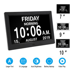 8icndigitalwallclock, 8digitalcalendarclock, Clock, digitalcalendarclockforelderly