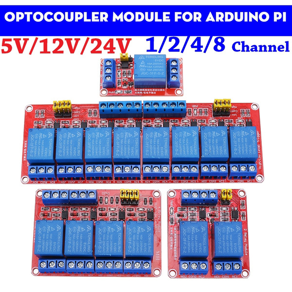 12v Relay Board Raspberry Arduino Module Channel Opto-Isolated High Or Low Level
