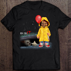 Fashion, Shirt, chucky, pennywiseshirt