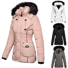 Plus Size, parkajacket, Winter, hoodedjacket