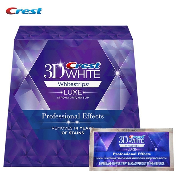 Crest 3d White Teeth Whitestrips Luxe Professional Effect 1 Box 20