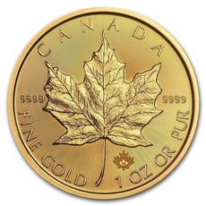 Canada, uncirculated, leaf, gold