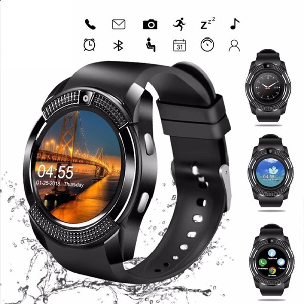 V8 Smartwatch Bluetooth Pedometer SIM TF Card Watch Camera 2G ...